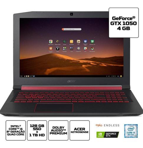 notebook gamer acer an515-5771 ci5 8gb 1tb 128gb 1050 endles
