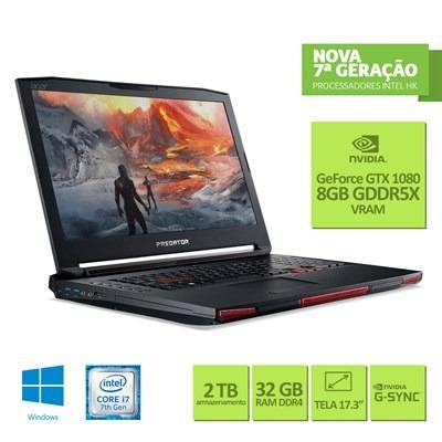 notebook gamer acer predator 17x intel core i7 32gb 256gb ss