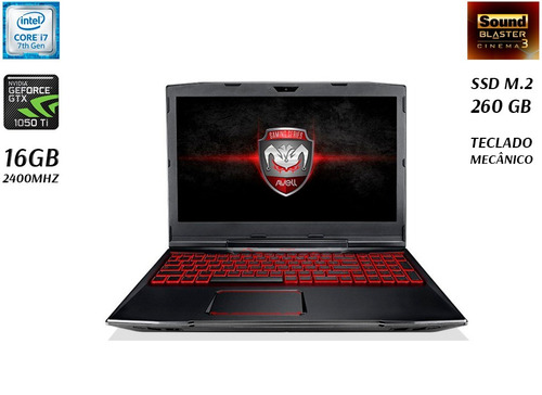 notebook gamer avell g1513 mx7 - core i7 - 16gb - gtx 1050ti