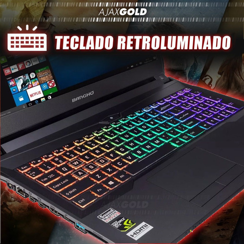 notebook gamer core i7 banghó 16gb 1tb gtx1050 + windows pro