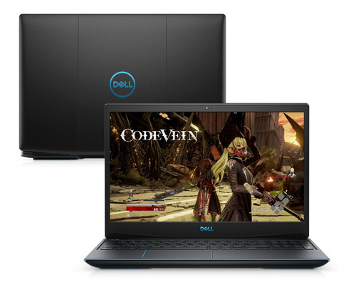 notebook gamer dell g3-3590-m20p ci5 8gb hd+ssd gtx 1650 w10