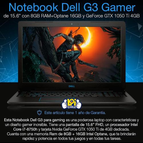 notebook gamer dell i7 8gb+16gb optane ram 1tb gtx 1050ti