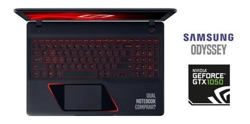 notebook gamer samsung core i7 7ger 16gb 1tb gtx1050 - novo