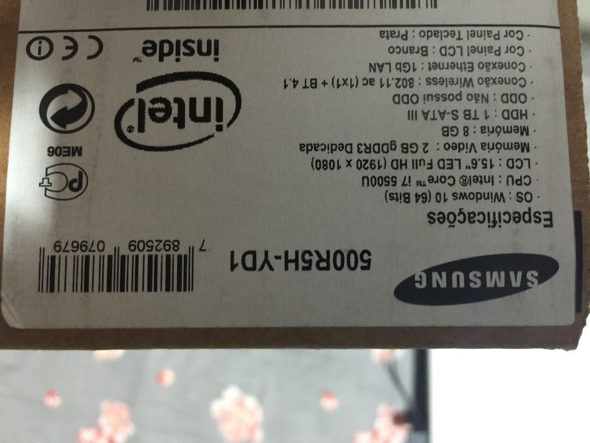 Notebook samsung expert x51 - Notebook Gamer Samsung Expert X51 Branco Tela Em Hd Zerado Carregando Zoom