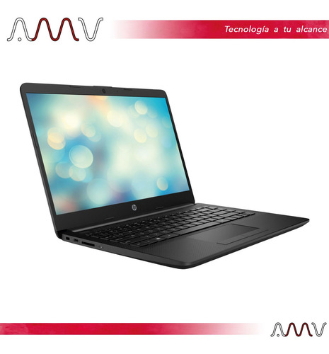 notebook hp 14` hd amd 4gb/128gb disco solido win 10 amv