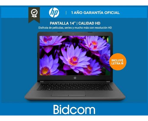 notebook hp 14,1  240 g6 intel dual core n4000 4gb 500gb 4k