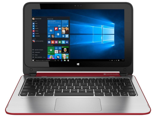 notebook hp 2 em 1 touch dual core  4gb 500gb led 11.6 win8