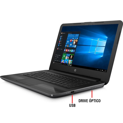 notebook hp 240 g5 intel core i3-5005u, 4gb, hd 500gb