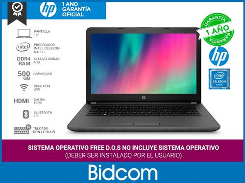 notebook hp 240 g6 dual core 4gb ram 500gb celeron bidcom