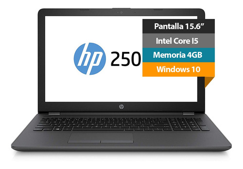 notebook hp 250 g6 15.6 intel i5 4gb 500gb batería 4-cell d