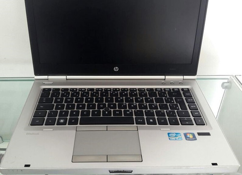 notebook hp 8460p i5 4gb 160gb tela14 win7 office2016 usado
