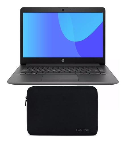 notebook hp amd 4gb 1tb ryzen 3 pulg 14 + funda de neoprene