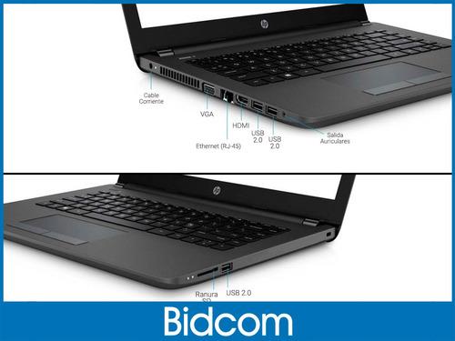 notebook hp celeron n4000 intel core 240 4gb 500gb 14 pulg