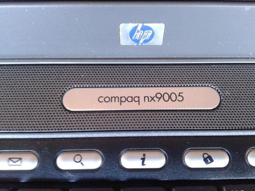 notebook hp compaq nx9005 - no estado