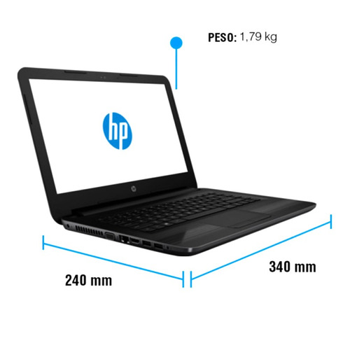 notebook hp core i3 g5 4gb hdd 1tb led 14 windows 10