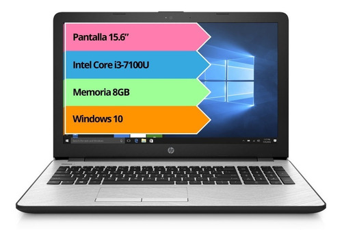 notebook hp i3 7100u 8gb 1tb 15.6 in windows10 home