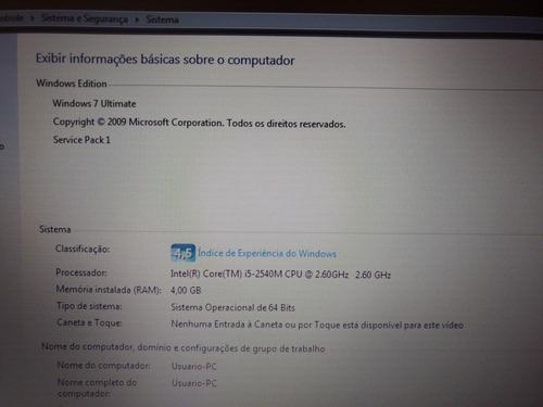 notebook hp i5 4gb ram hd 500gb tela 14