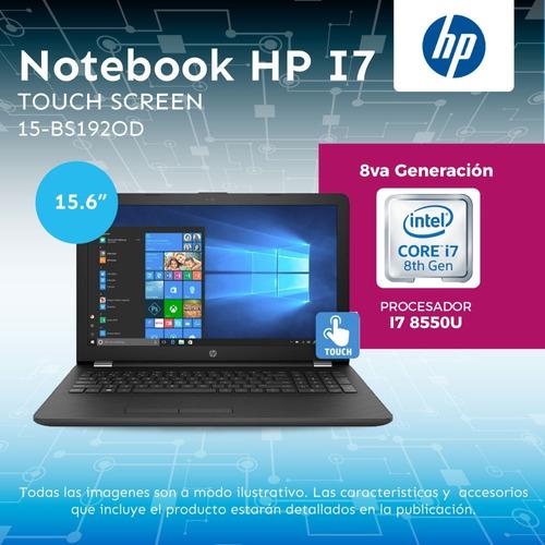 notebook hp i7 8550u 8va generacion 1tb 8gb 15.6 touch w10 c