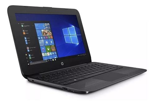 notebook hp intel dual core 4gb 32gb 11,6 pol - promoção