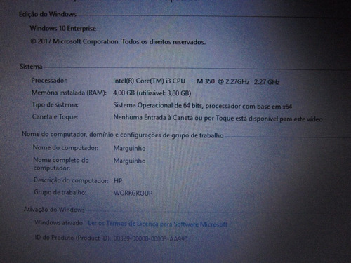 notebook hp intel i3 4gb ram, com teclado gamer e mouse