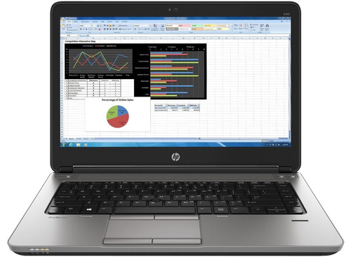 notebook hp intel i7 14 probook 640 4gb 500hd + dock station