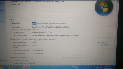 notebook hp mini atom 2gb ram 150gb hd + ssd 120gb crucial