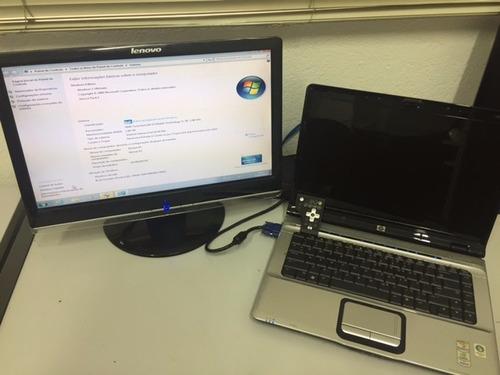 notebook hp pavilion dv6500 - tela com problema