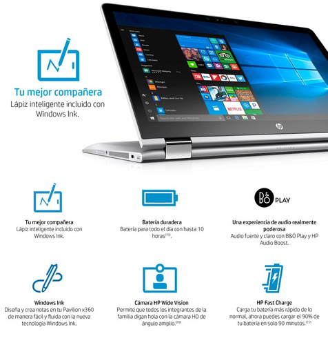 notebook hp pavilion x360 15-br001la core i5 8gb 2 en 1 new!