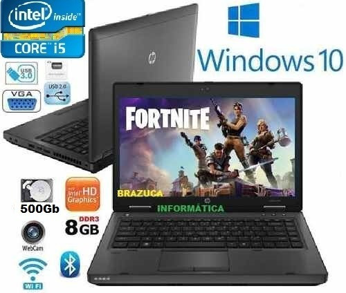 notebook hp probook core i5 8gb hd500gb 14' queima estoque