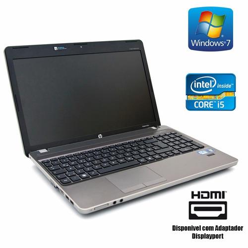 notebook i5 segunda geração - hp 6460b - wifi hdmi 4gb 500