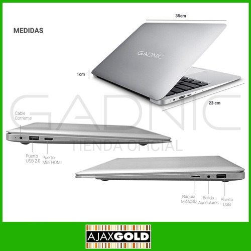 notebook intel glow windows 10 hdmi + funda modelo 2017