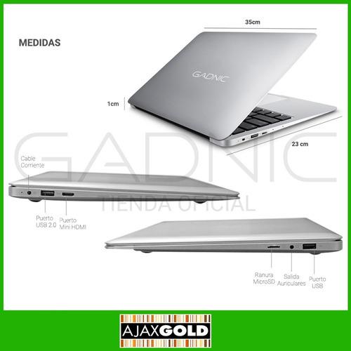 notebook intel glow windows 10 hdmi + funda + mouse