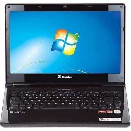 notebook itautec dual core 4gb 500gb windows 14'' led