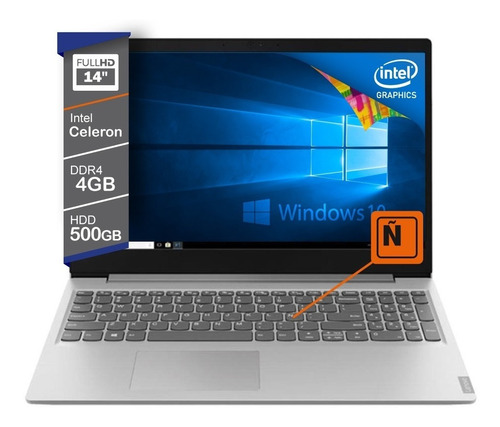 notebook lenovo 14 hd celeron 4205u 500gb windows 10 81mu004