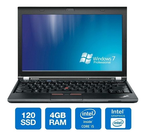 notebook lenovo 14 thinkpad t430 i5-3320m 3er geração 120gb ssd 4gb ram usb seminovo windows 7 pro original oferta loi