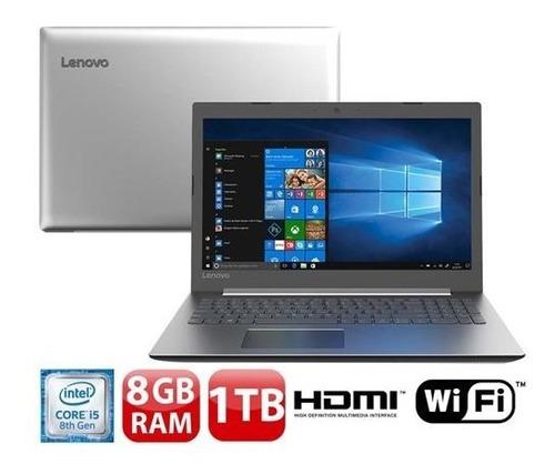 notebook lenovo 330-15lkbr i5-8250u 8gb 1tb 15,6'' novo