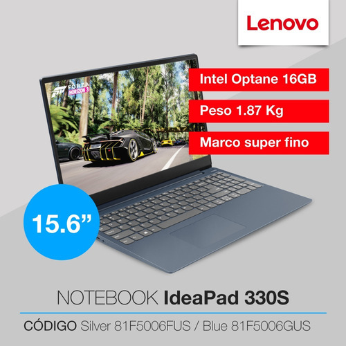 notebook lenovo 330s i5 8250u 8gb + 16gb 1tb 15.6 windows 6c