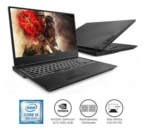 notebook lenovo gamer legion y530 i5-8300h 8gb 1tb gtx