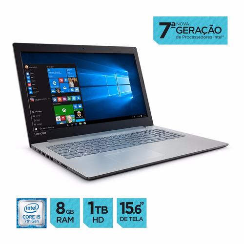 notebook lenovo ideapad 320 i5 8gb 1tb 15hd w10 frete grátis