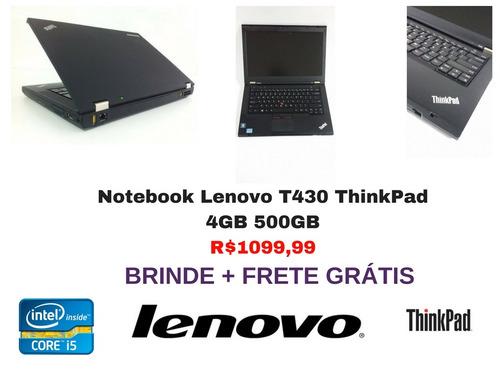 notebook lenovo t430 core i5 4gb 500gb frete
