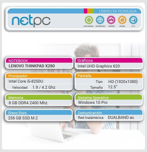 notebook lenovo thinkpad x280 - i5 8gb 256gb ssd 12.5  netpc