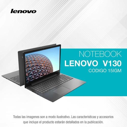 notebook lenovo v130 quadcore n5000 15.6 4gb 500gb pentium ñ