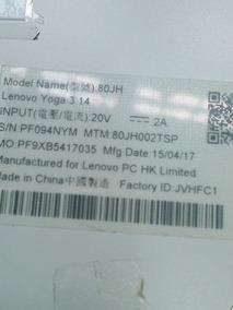 Notebook Lenovo Yoga I7  Disco Ssd 256 memo 8gb