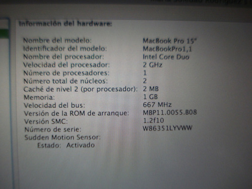 notebook macbook pro a1150 core duo c/carg orgi funcionando