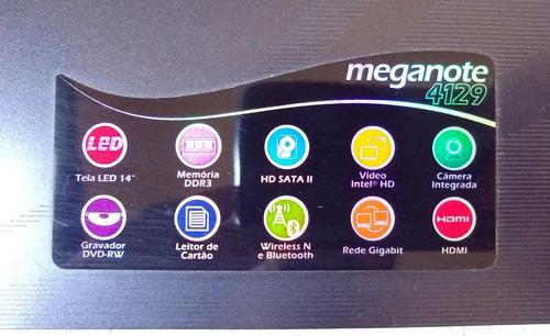 notebook megaware meganote 4129 core i7 620m 4gb de ram
