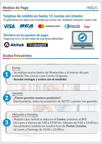 notebook msi gt72vr netpc oca, master, visa nuevo precio