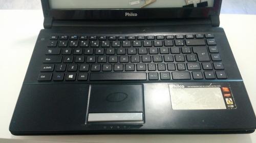 notebook philco 14f com defeito/senha da bios *ver descrição