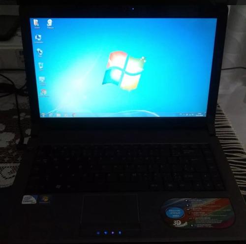 notebook positivo dual-core, 4gb, hd 320, bateria ok!