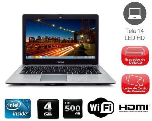 notebook positivo intel dual core 4gb hd 500gb - promoção
