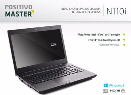 notebook positivo master n110i escovado ( outlet )